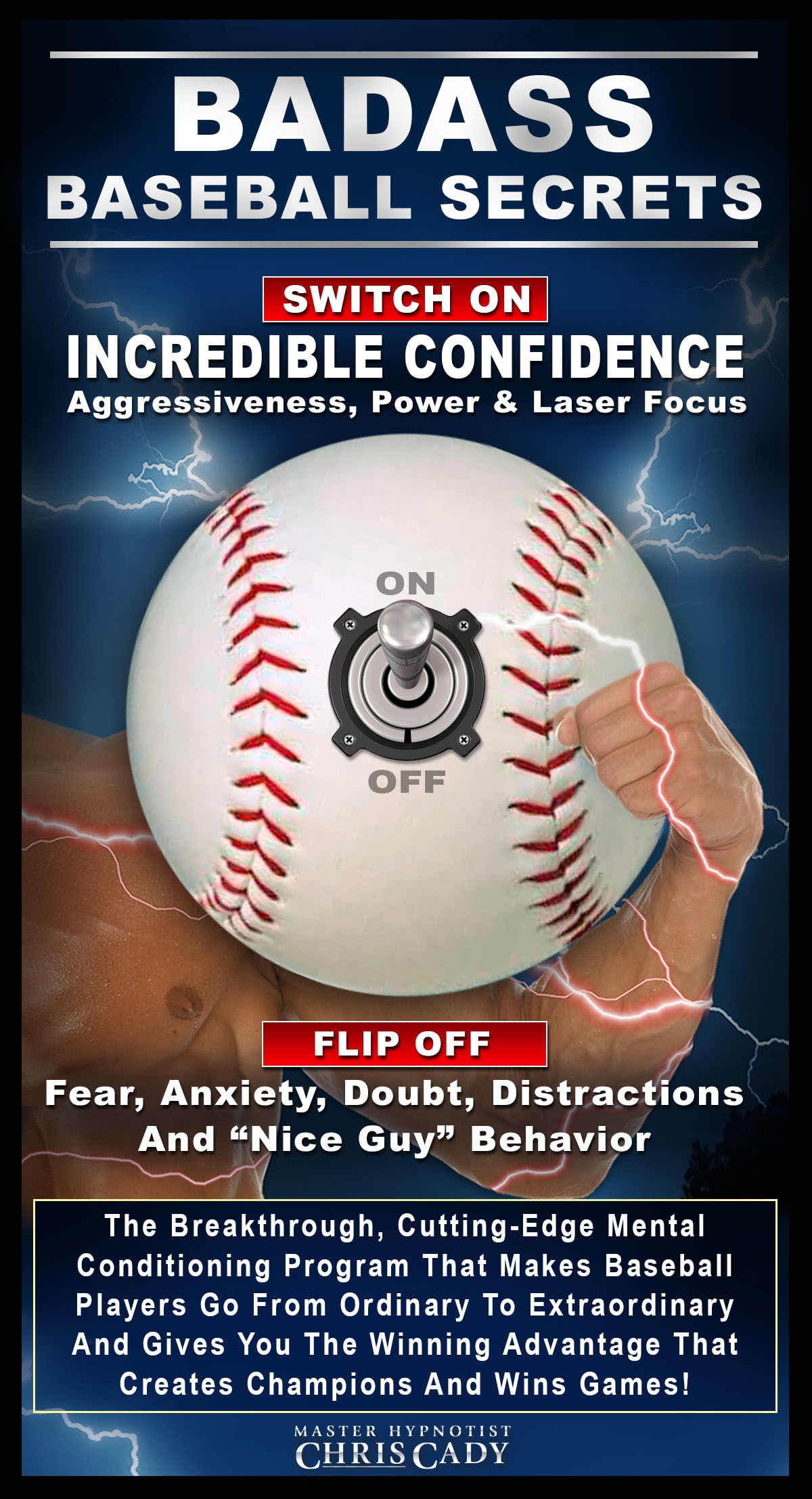 baseball players badass baseball secrets with hypnosis mental game confidence cd and mp3 download