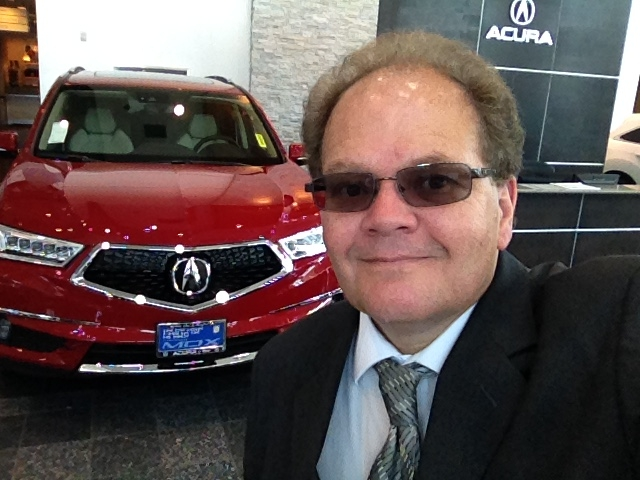 acura mdx and hypnotist Chris Cady at acura in reno
